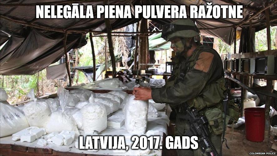 Nelegālā piena ražotne (Latvija, 2017. gads).