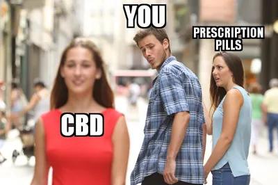 CBD eļļa novērš bojfrenda uzmanību no recepšu zālēm