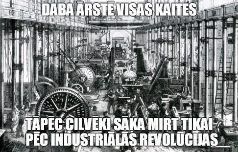 Daba ārstē visas kaites. Tāpēc cilvēki sāka mirt tikai pēc industriālās revolūcijas.