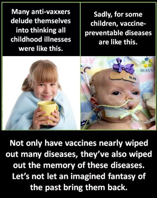 Vakcīnregulējamo saslimšanu izslimošana: antivakcinētāju skatījums pret realitāti.