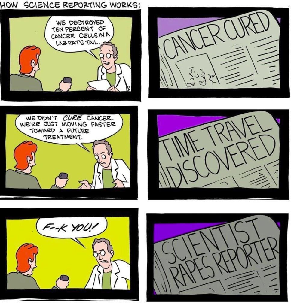 Zinātne un žurnālistika.