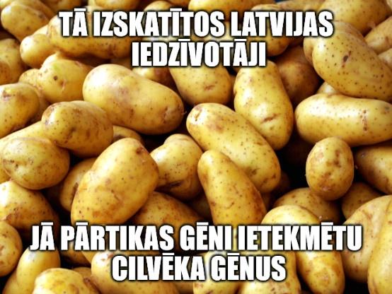 Tā izskatītos Latvijas iedzīvotāji, ja pārtikas gēni ietekmētu cilvēka gēnus.